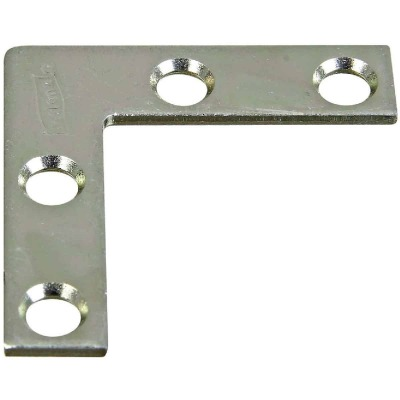 National Catalog 117 1-1/2 In. x 3/8 In. Zinc Flat Corner Iron