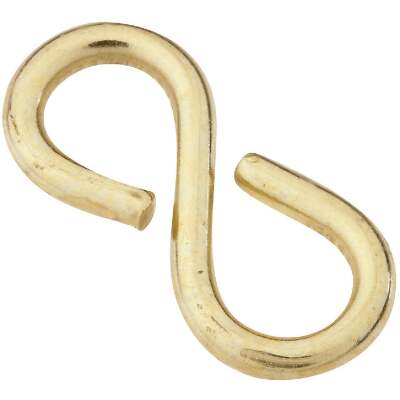 National 1-1/8 In. Brass Light Closed S Hook (2 Ct.)