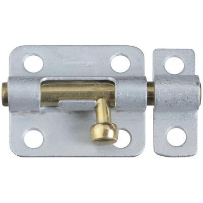 National 2-1/2 In. Galvanized Steel Door Barrel Bolt