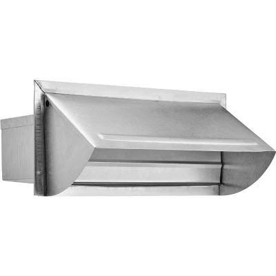 Lambro 3-1/4 In. x 10 In. Mill Finish Aluminum Kitchen Wall Vent Cap