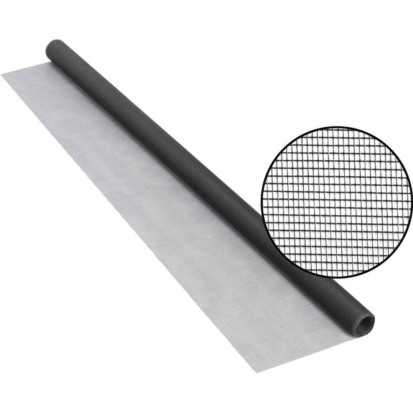 Phifer 36 In. x 84 In. Charcoal Fiberglass Screen Cloth Ready Rolls Image 1
