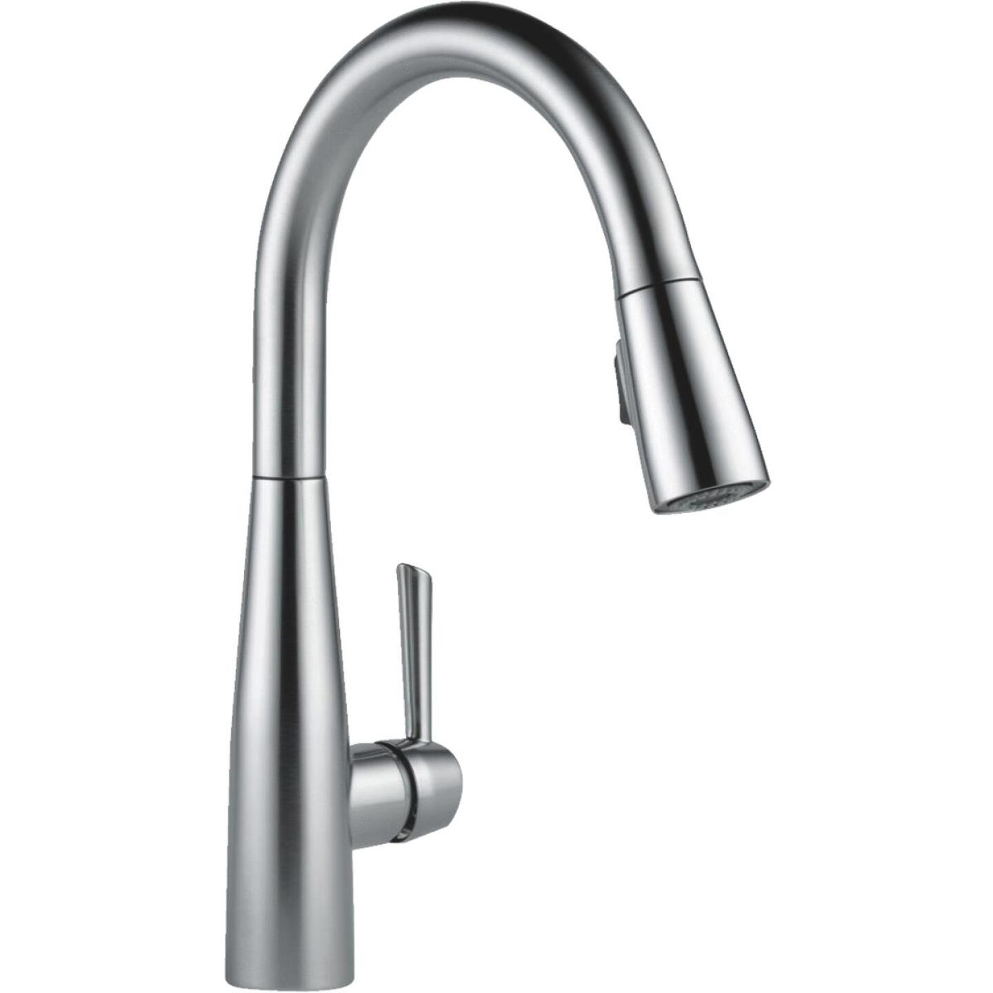 Delta Essa Single Handle Lever Kitchen Faucet with Pull-Down Spray, Stainless Image 5