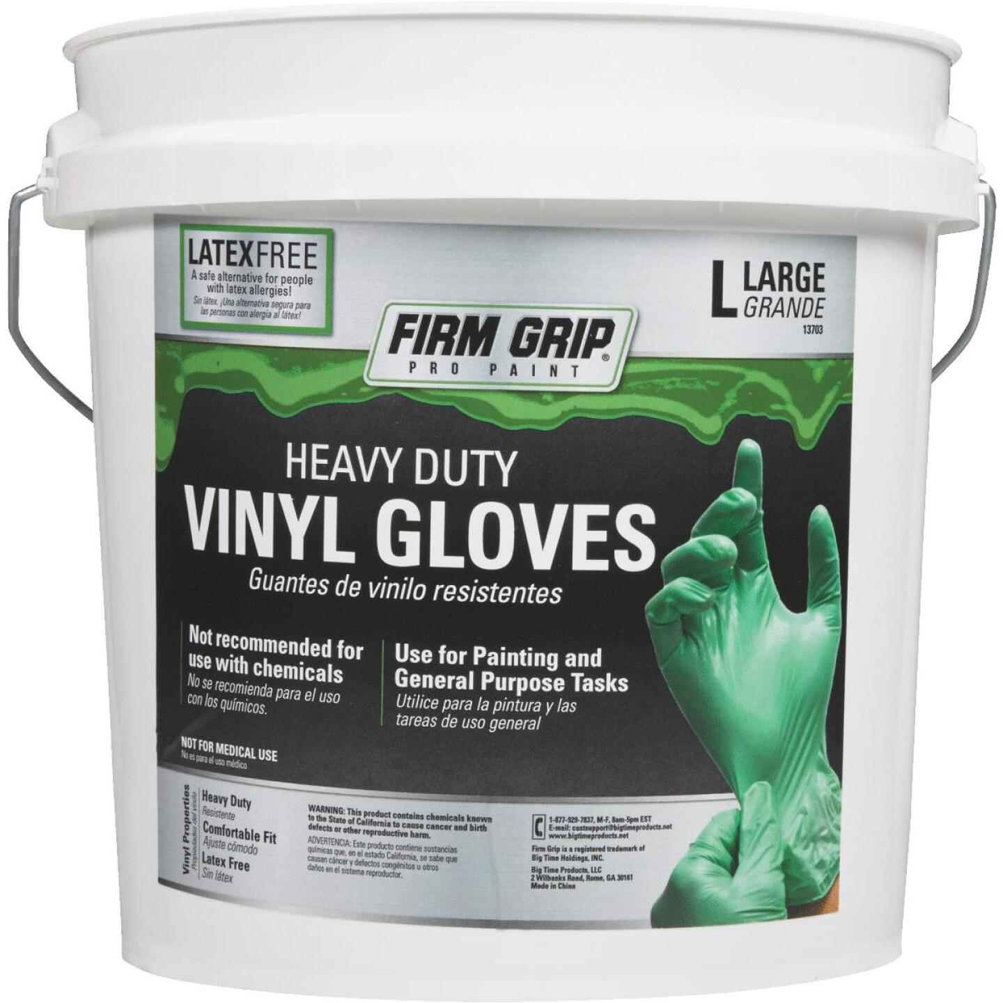 Firm Grip Large Heavy-Duty Vinyl Disposable Glove (300-Pack) Image 3