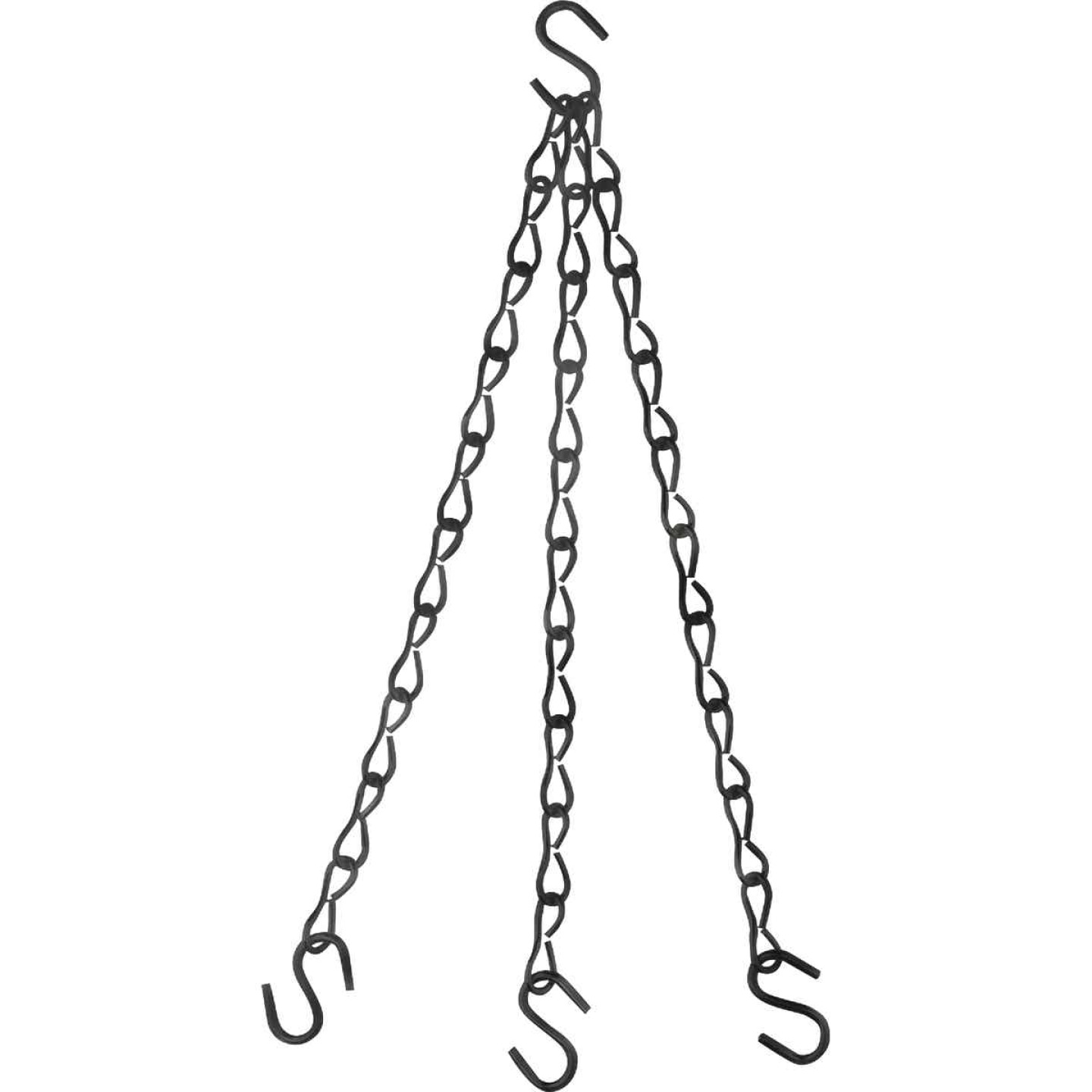 National V2663 18 In. Black Metal Hanging Plant Extension Chain Image 1