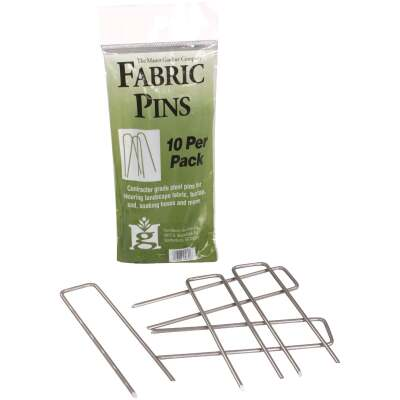 Master Gardner Steel 4.5 In. Landscape Fabric Pins (10-Pack)