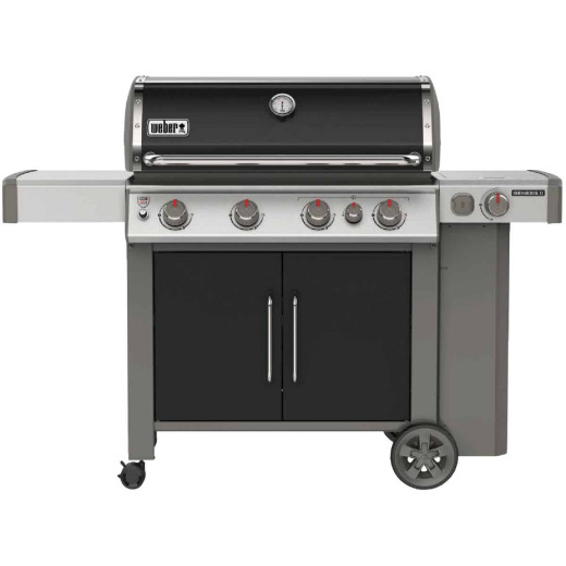 Weber Genesis II E-435 4-Burner Black 48,000 BTU LP Gas Grill with 12,000 BTU Side -Burner